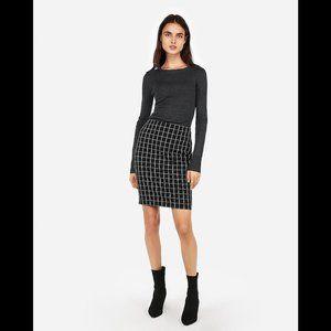 Express High Waisted Windowpane Pencil Skirt 4